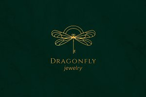 Dragonfly jewelry logo