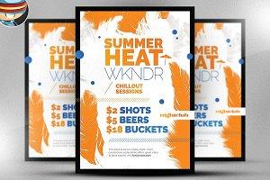 Summer Heat Flyer Template 2