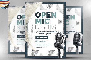 Open Mic Night Flyer Template