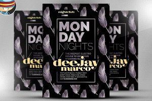 Monday Night Flyer Template