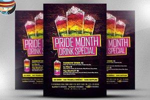 Pride! Drink Special Flyer Template