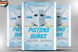 Hockey League Flyer Template
