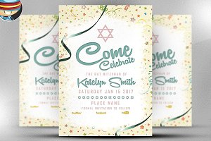 Bat Mitzvhah Flyer Template