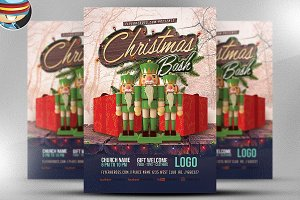 Christmas Bash Flyer Template 3
