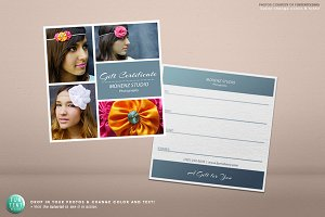 Photography gift certificate voucher