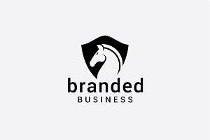 branded horse
