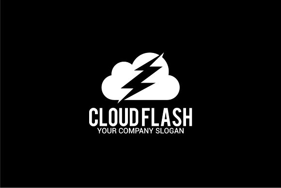 cloud flash in Logo Templates