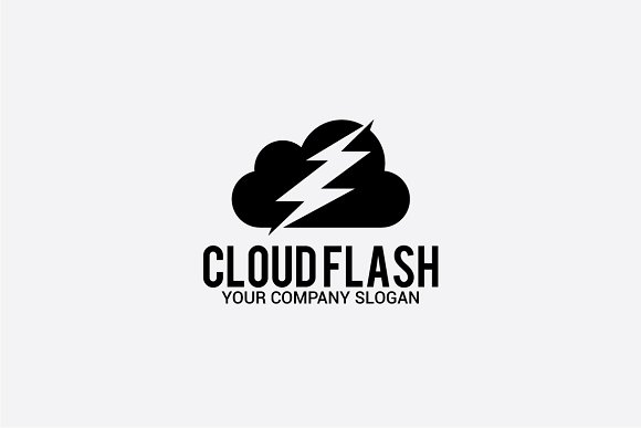 cloud flash in Logo Templates - product preview 1