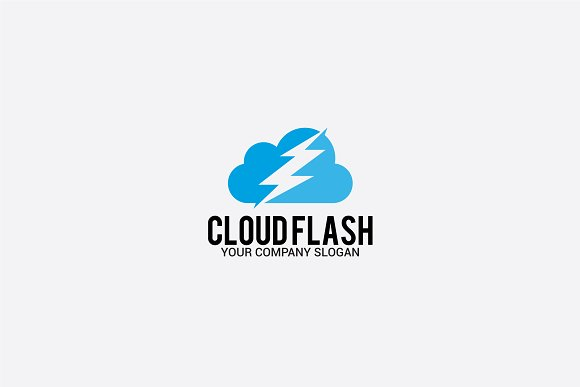cloud flash in Logo Templates - product preview 2