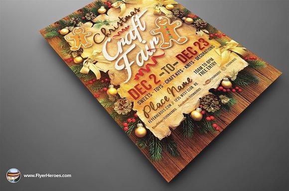Christmas Craft Fair Flyer Template Flyer Templates Creative Market