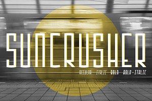 Suncrusher (4 Fonts)