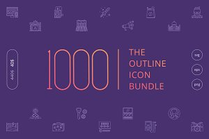 The Outline Icon Bundle 1000