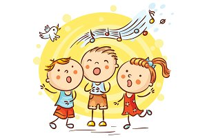 Children Singing Songs