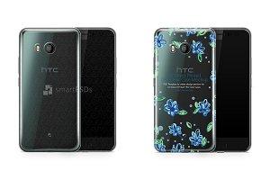 HTC U11 UV TPU Clear Case Mockup