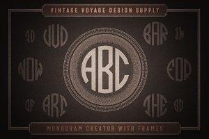 Monogram Creator with Frames