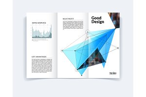 Design of business brochure template, abstract annual report,