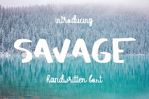 SAVAGE duo script font