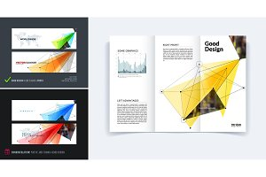 Set of design of brochure, abstract annual report, cover.
