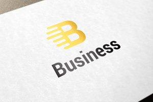 B Letter Logo - SK