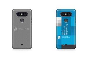 LG Q8 3d IMD Mobile Case Mockup