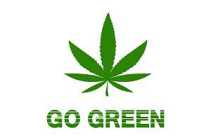 Go green - marijuana