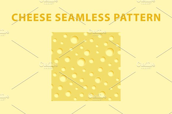 Cheese pattern and digital paper