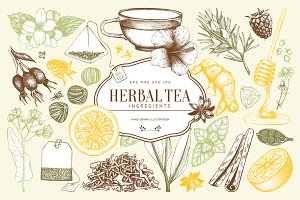 Herbal Tea Sketch Collection
