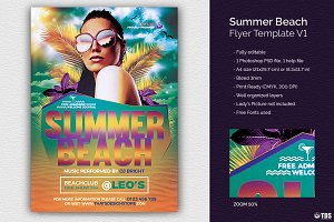 Summer Beach Flyer Template V1