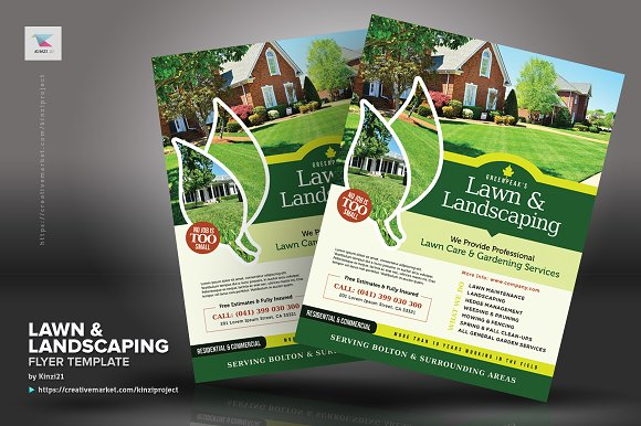 Lawn Landscaping Flyer Templates Creative Market