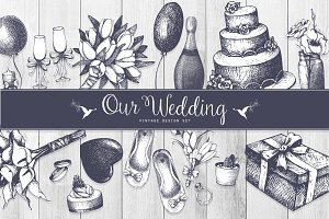 Vintage Wedding Design Set