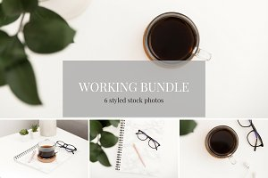 Green Working Stock Photo Bundle
