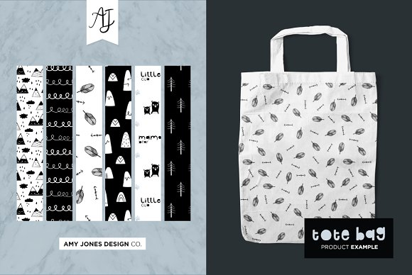 Monochrome Wilderness Patterns in Patterns - product preview 2