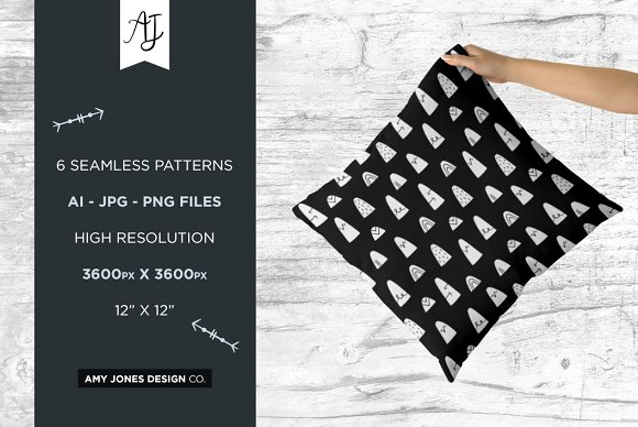 Monochrome Wilderness Patterns in Patterns - product preview 4
