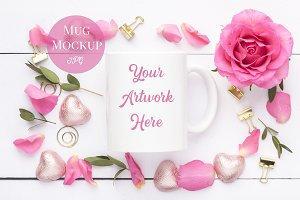 Mug Mockup-Pink Roses