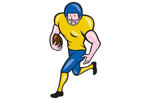 American Football Running Back Carto