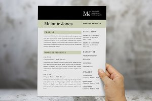 3 in 1 modern resume (2 pages)