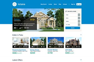 Istana Real Estate PSD Template