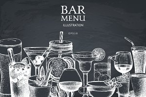 Chalkboard Bar Menu Design