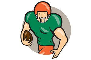 American Football Running Back Circl