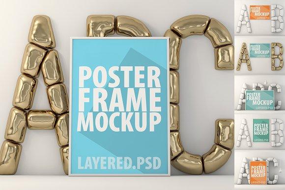 Mockup Poster Frame PSD