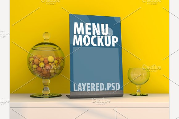 Mockup Menu Frame PSD