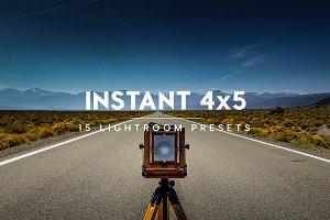 Instant 4x5 Lightroom Presets
