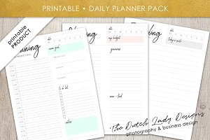 Printable Daily Planner Pack #3