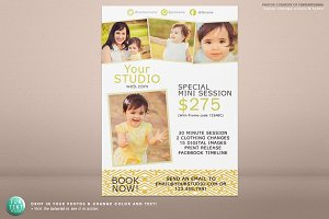 5x7 mini session marketing flyer