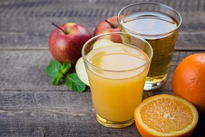 Apple and orange juice