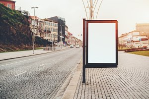 Informational billboard mock-up