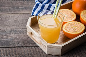 Fresh Orange Juice in Glass