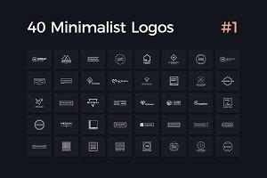 40 Minimalist Logos Vol. 1