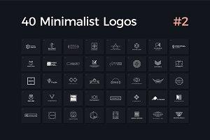 40 Minimalist Logos Vol. 2