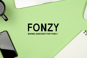 Fonzy Minimal Sans Serif 5 Font Pack
